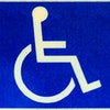 Blue and white Handicap Sign