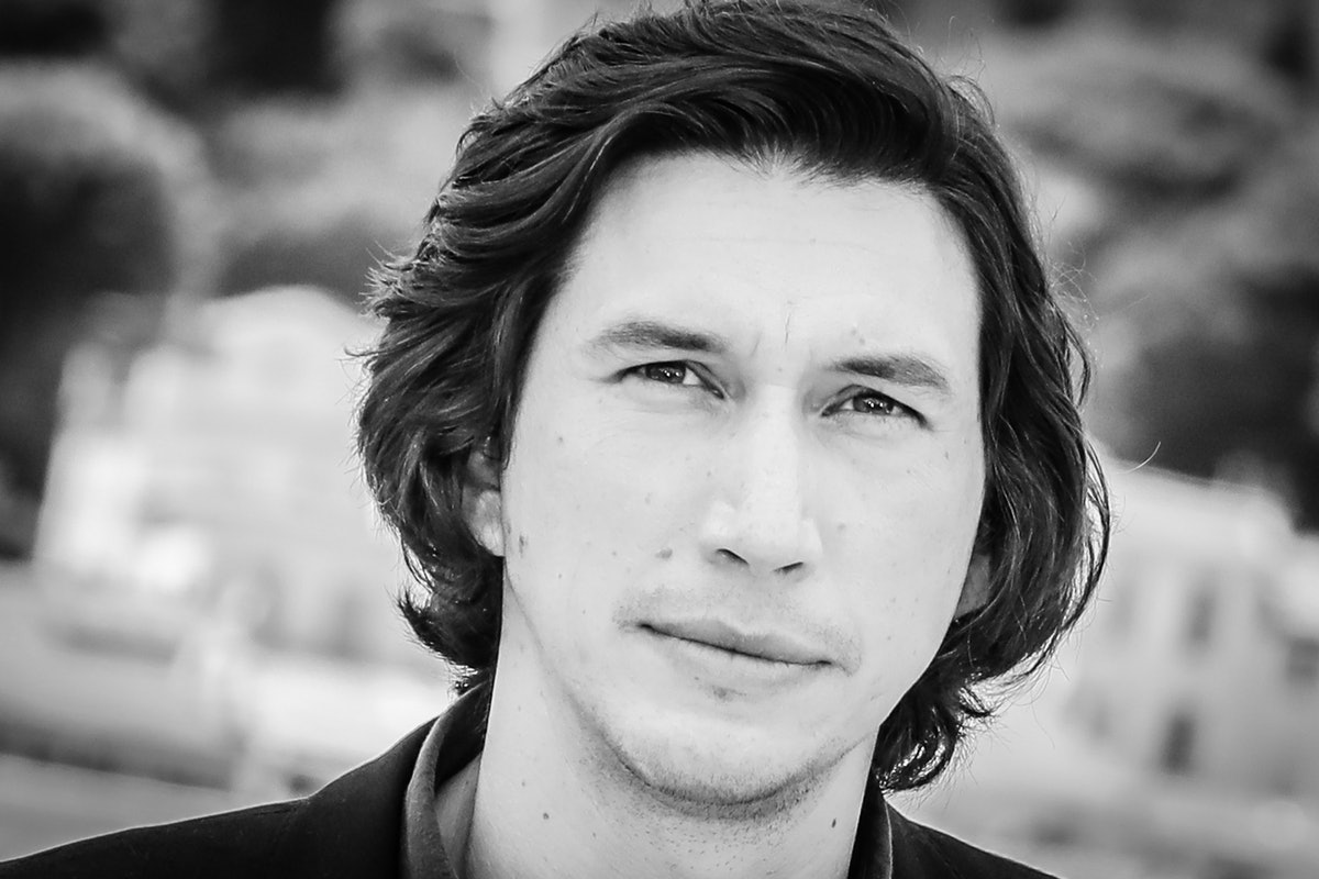 CANNES, FRANCE - JULY 06: (EDITORS NOTE : Image has been converted to black and white) Adam Driver a...