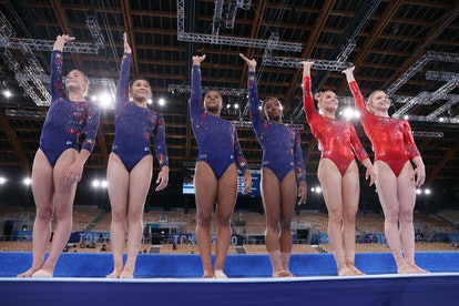 Team USA Gymnastics wore different leotards to signify who was in the team final.