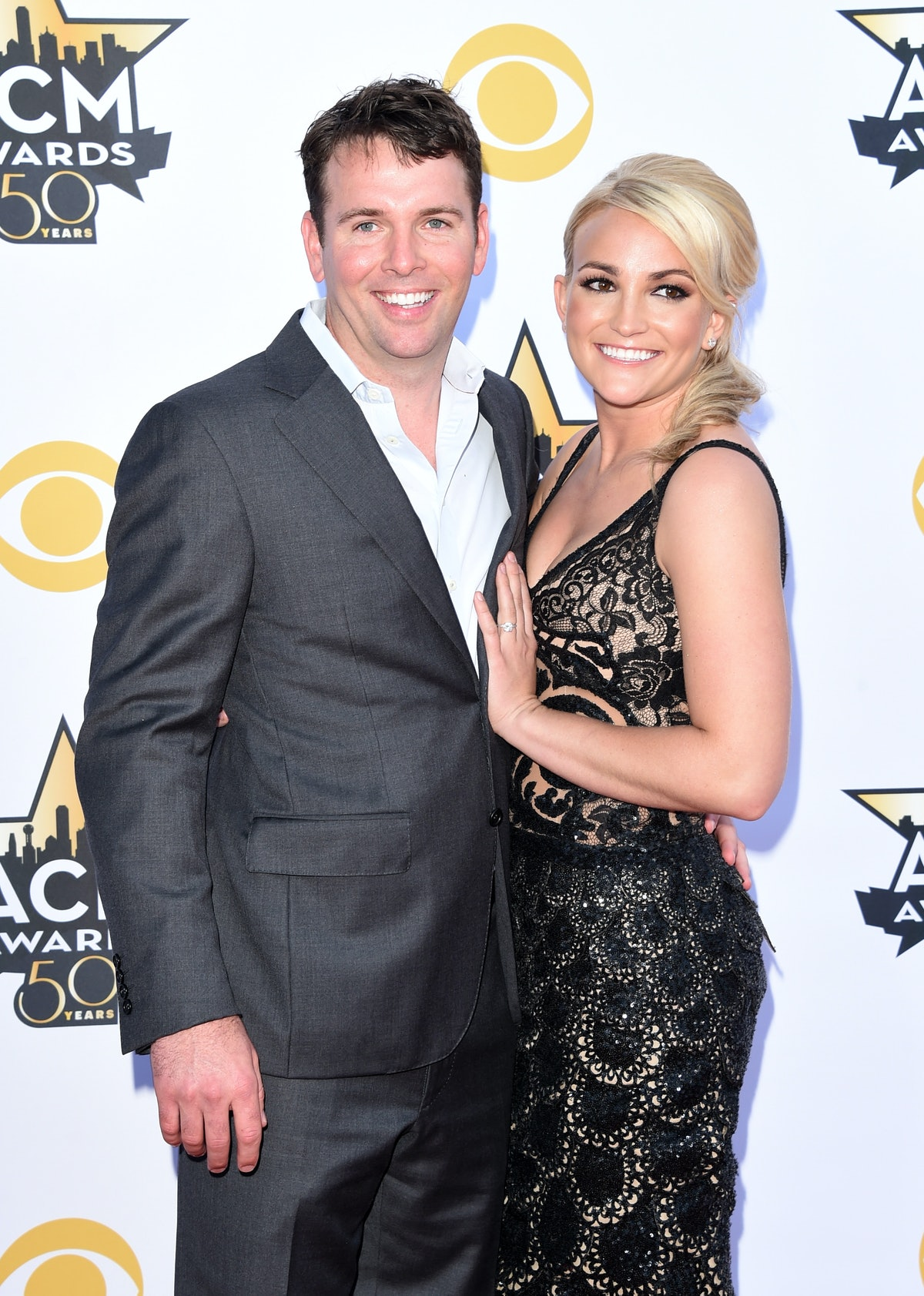 ARLINGTON, TX - APRIL 19:  Jamie Watson (L) and actress/singer Jamie Lynn Marie Spears Watson attend...
