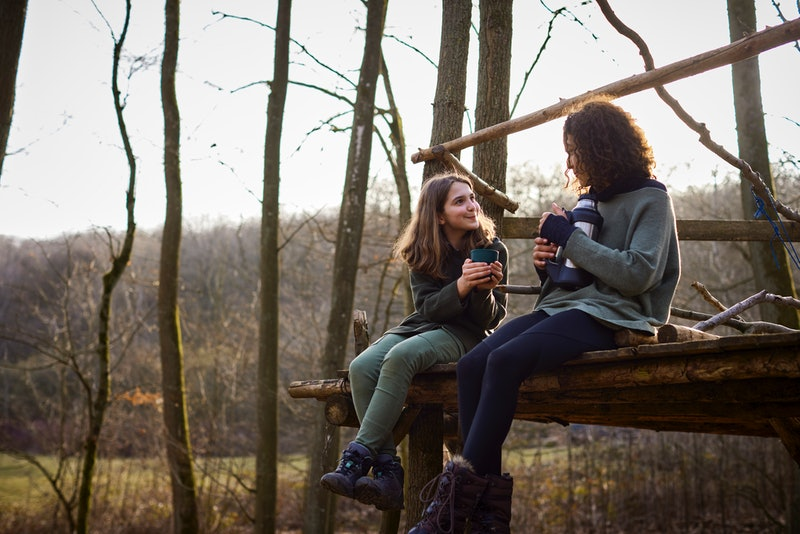 two people enjoying the outdoors
