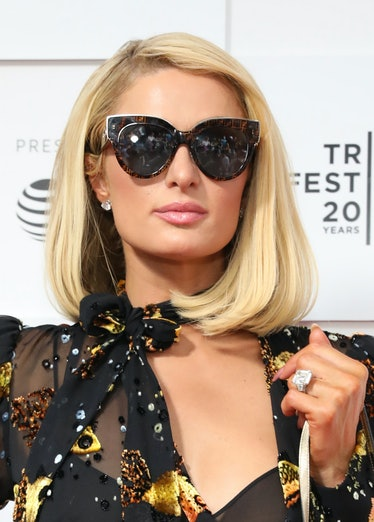 """NEW YORK, NEW YORK - JUNE 20: Paris Hilton attends the """"This Is Paris"""" premiere during the 2021 Trib..."""