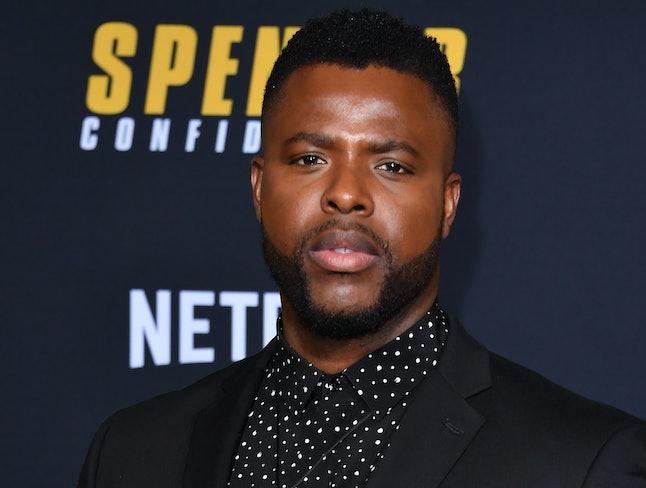"""TrinidadianUS actor Winston Duke arrives for the premiere of Netflix's """"Spenser Confidential"""" at Reg..."""