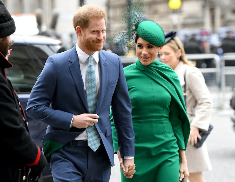LONDON, ENGLAND - MARCH 09: Prince Harry, Duke of Sussex and Meghan, Duchess of Sussex attend the Co...