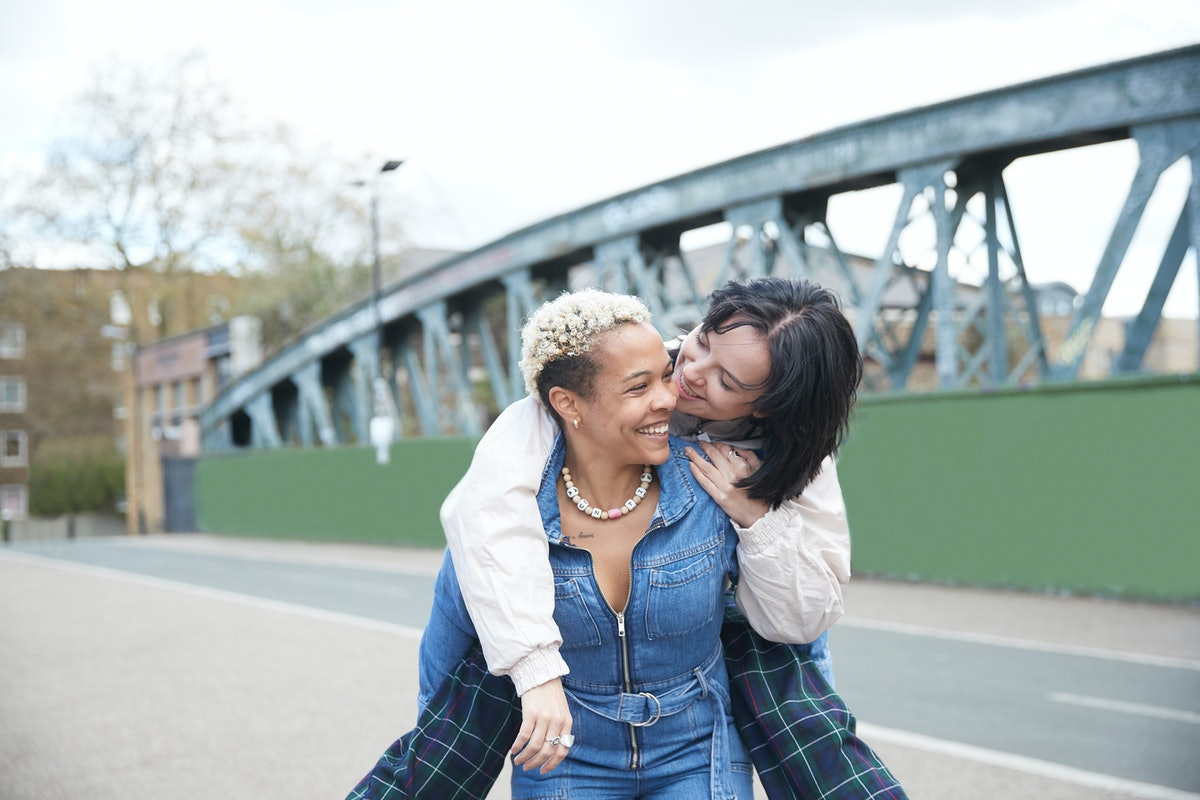 Two women in a relationship wonder if they see each other too often.