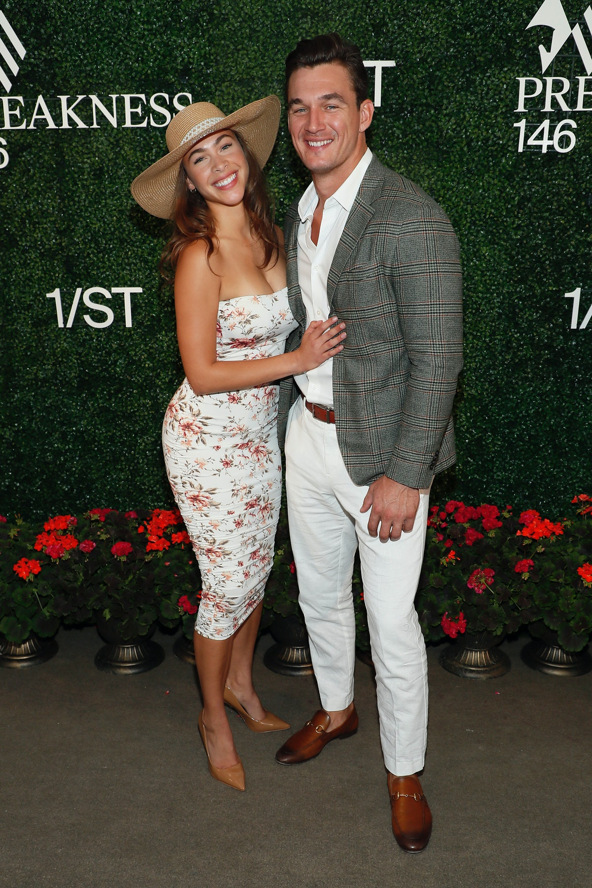 Camila Kendra and Tyler Cameron attend Preakness 146.