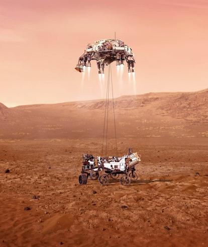 (210218) -- WASHINGTON, Feb. 18, 2021 (Xinhua) -- This image made available by NASA shows an illustr...