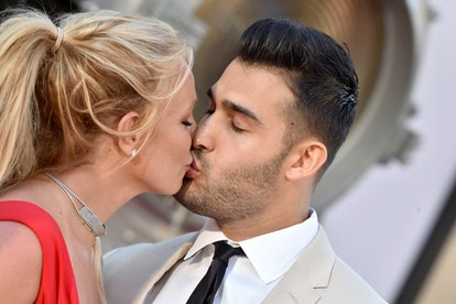 """Britney Spears and Sam Asghari attend the """"Once Upon a Time ... in Hollywood"""" Los Angeles Premiere o..."""