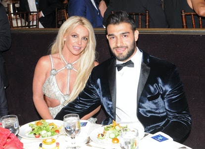 Britney Spears and Sam Asghari attend the 29th GLAAD Media Awards at The Beverly Hilton Hotel on Apr...