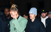 NEW YORK, NEW YORK - FEBRUARY 08: Justin Bieber and Hailey Bieber are seen on February 08, 2020 in N...