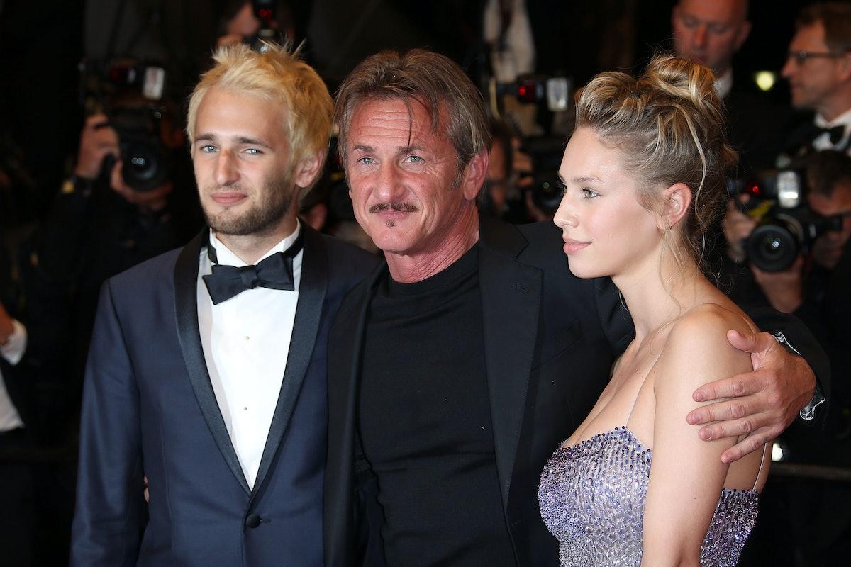 CANNES, FRANCE - MAY 20:  Hopper Penn, Director Sean Penn and Dylan Penn attend 'The Last Face' Prem...