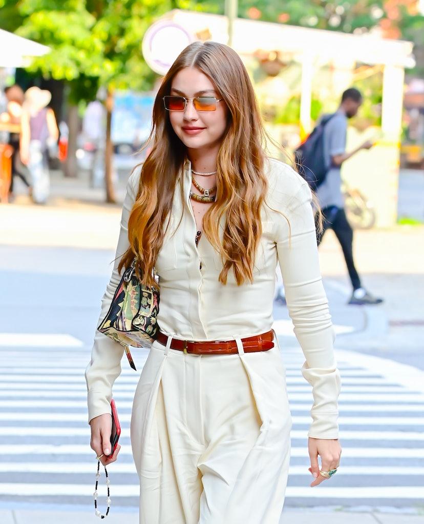 Gigi Hadid in SoHo in New York City in July 2021.