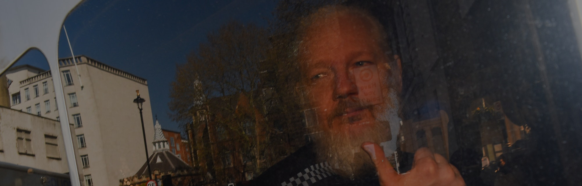 Wikileaks founder Julian Assange makes his way into the Westminster Magistrates Court after being ar...