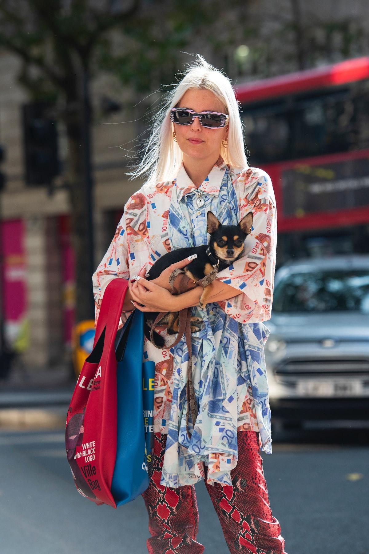 LONDON, ENGLAND - SEPTEMBER 18: Art director and stylist Jamie Maree Shipton wears all Balenciaga du...