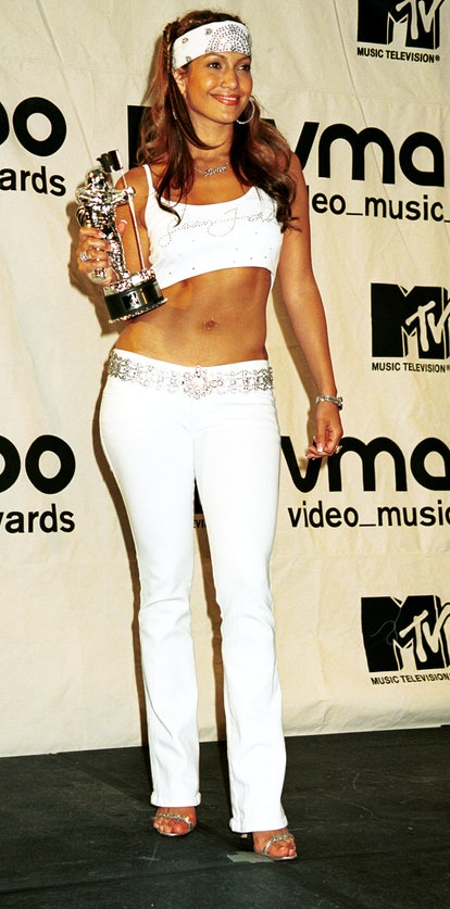 Jennifer Lopez wins the MTV award for Best Dance Video September 7, 2000 at the MTV Awards at Radio ...