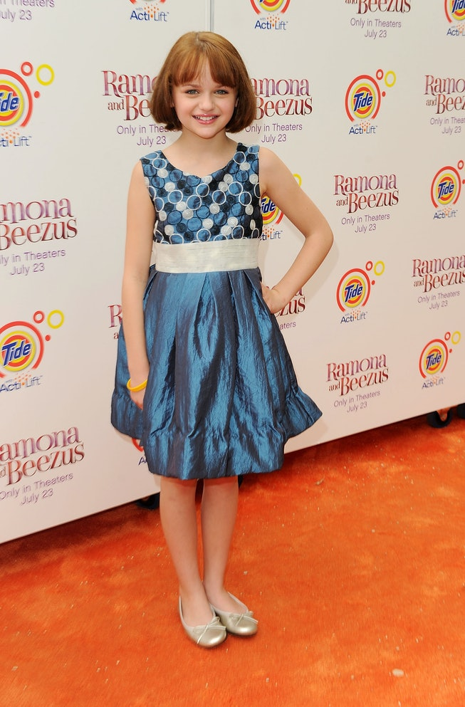 """NEW YORK - JULY 20:  Actress Joey King attends the premiere of """"Ramona and Beezus"""" in Madison Square..."""