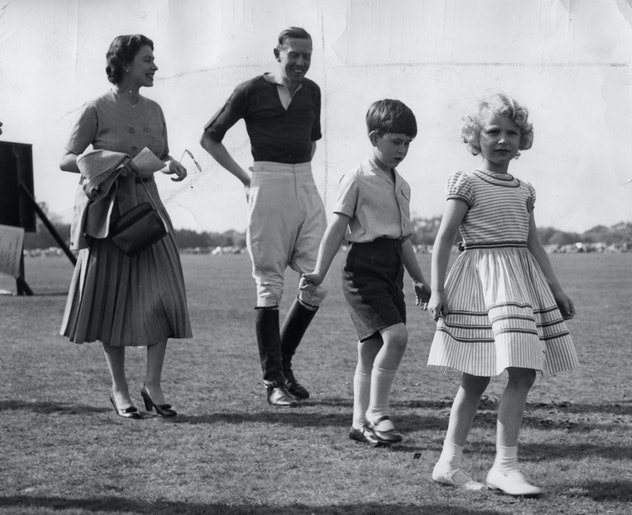 Princess Anne and Prince Charles in 1956.