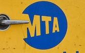 Ronkonkoma, N.Y.: A MTA logo shown in this photo taken at the Ronkonkoma LIRR train station in Ronko...