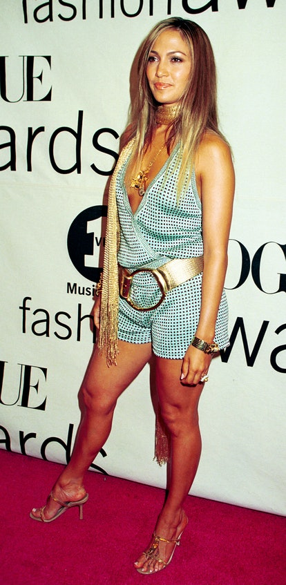 Actress Jennifer Lopez attends the 2000 VH1/Vogue Fashion Awards October 20, 2000 at the Theatre at ...