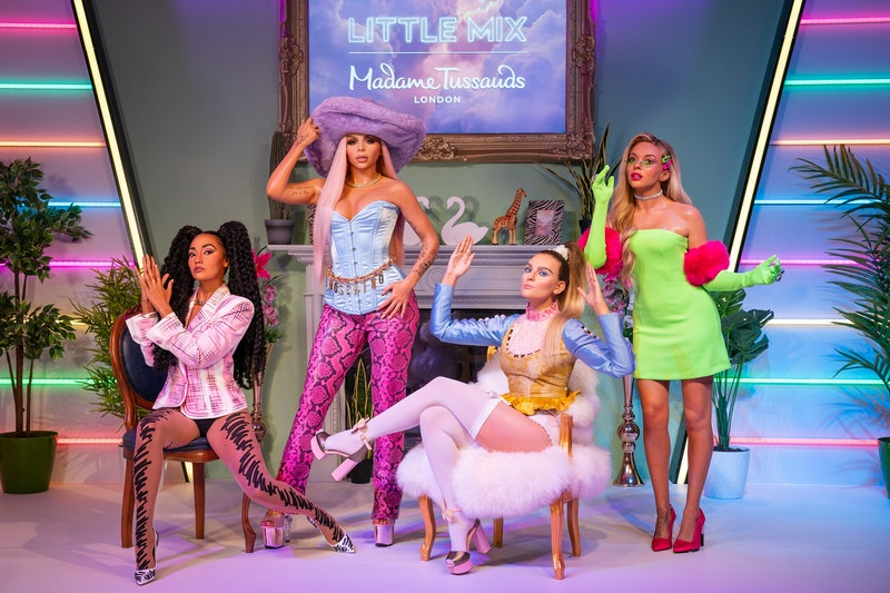 Wax figures of Little Mix, (left to right) Leigh-Anne Pinnock, Jesy Nelson, Perrie Edwards and Jade ...