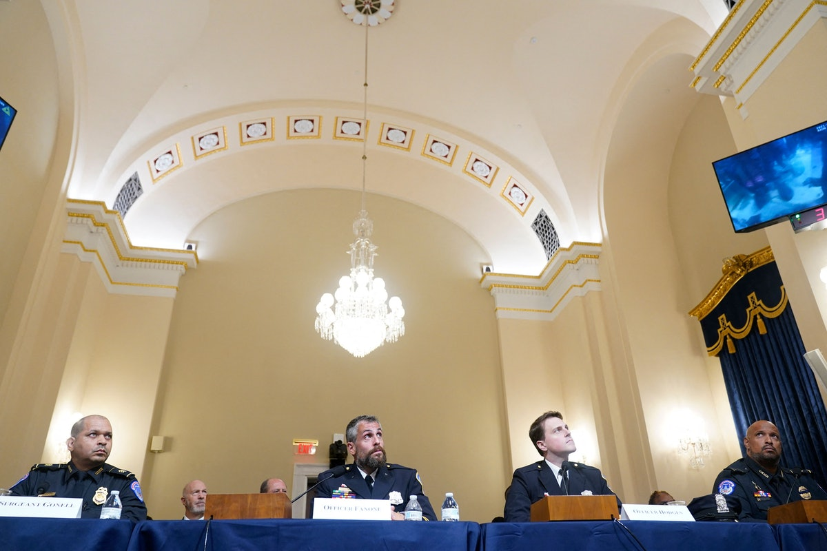(L-R)US Capitol Police Sgt. Aquilino Gonell, Washington Metropolitan Police Department officer Micha...