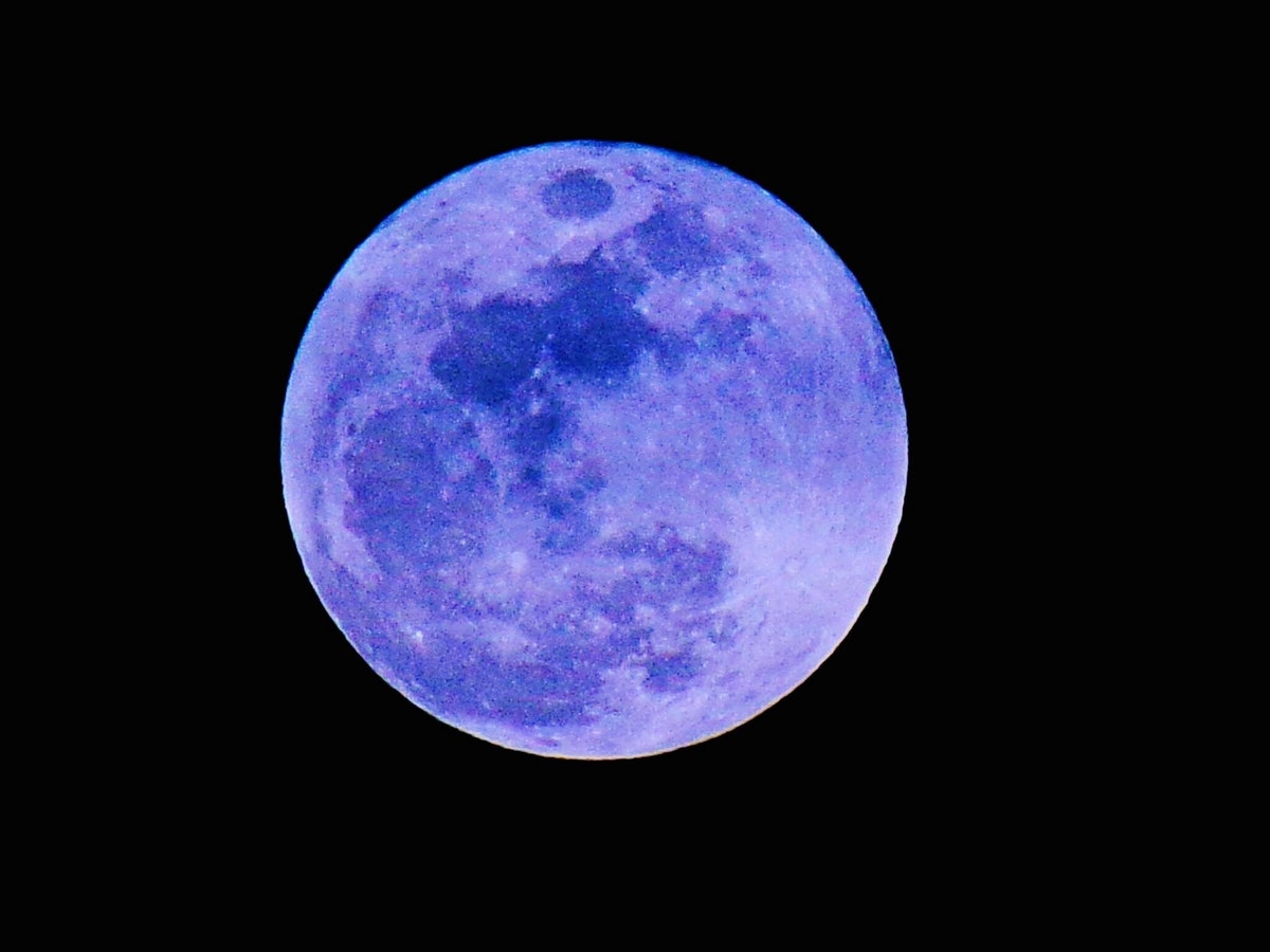 The August 2021 full moon in Aquarius, which is an astrological blue moon.