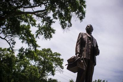 A Denmark Vesey monument in Hampton Park in Charleston, South Carolina.