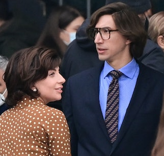 TOPSHOT - US singer, songwriter and actress Lady Gaga (L) and US actor Adam Driver (R) are pictured ...