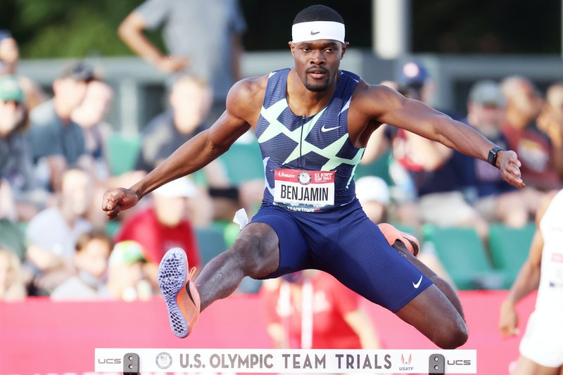 Rai Benjamin is poised for Olympic success. (Photo by Andy Lyons/Getty Images)