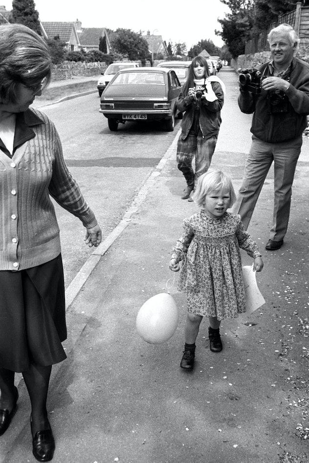 Zara Phillips goes to nursery school.