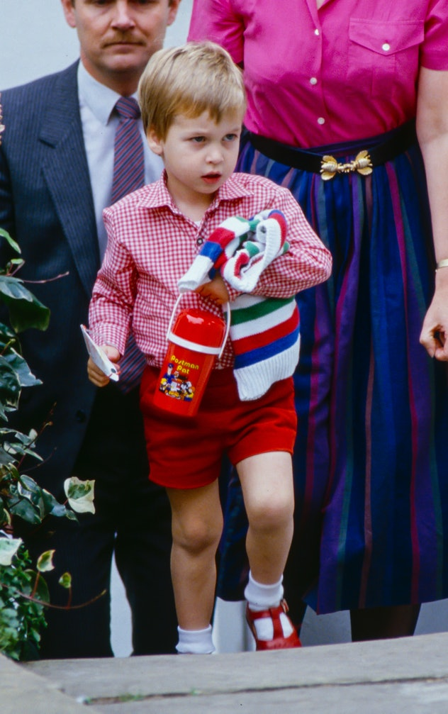 Prince William goes to school.