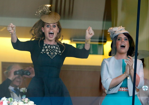 Princesses Beatrice and Eugenie at Ascot.