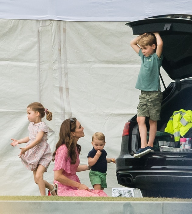Princess Charlotte with her brothers and mom.