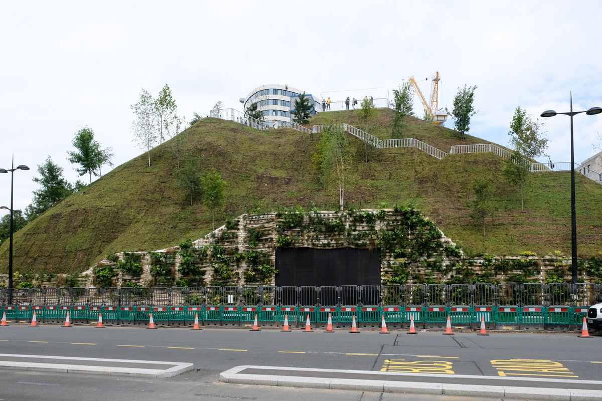 LONDON, UNITED KINGDOM - JULY 27, 2021 -  The Marble Arch Mound a temporary visitor attraction desig...