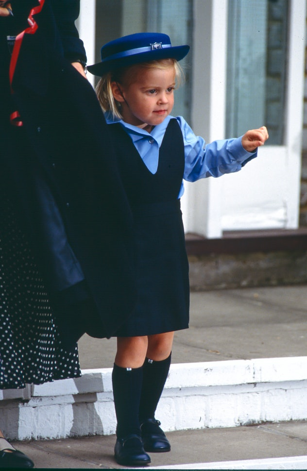 Princess Beatrice on her way to school.