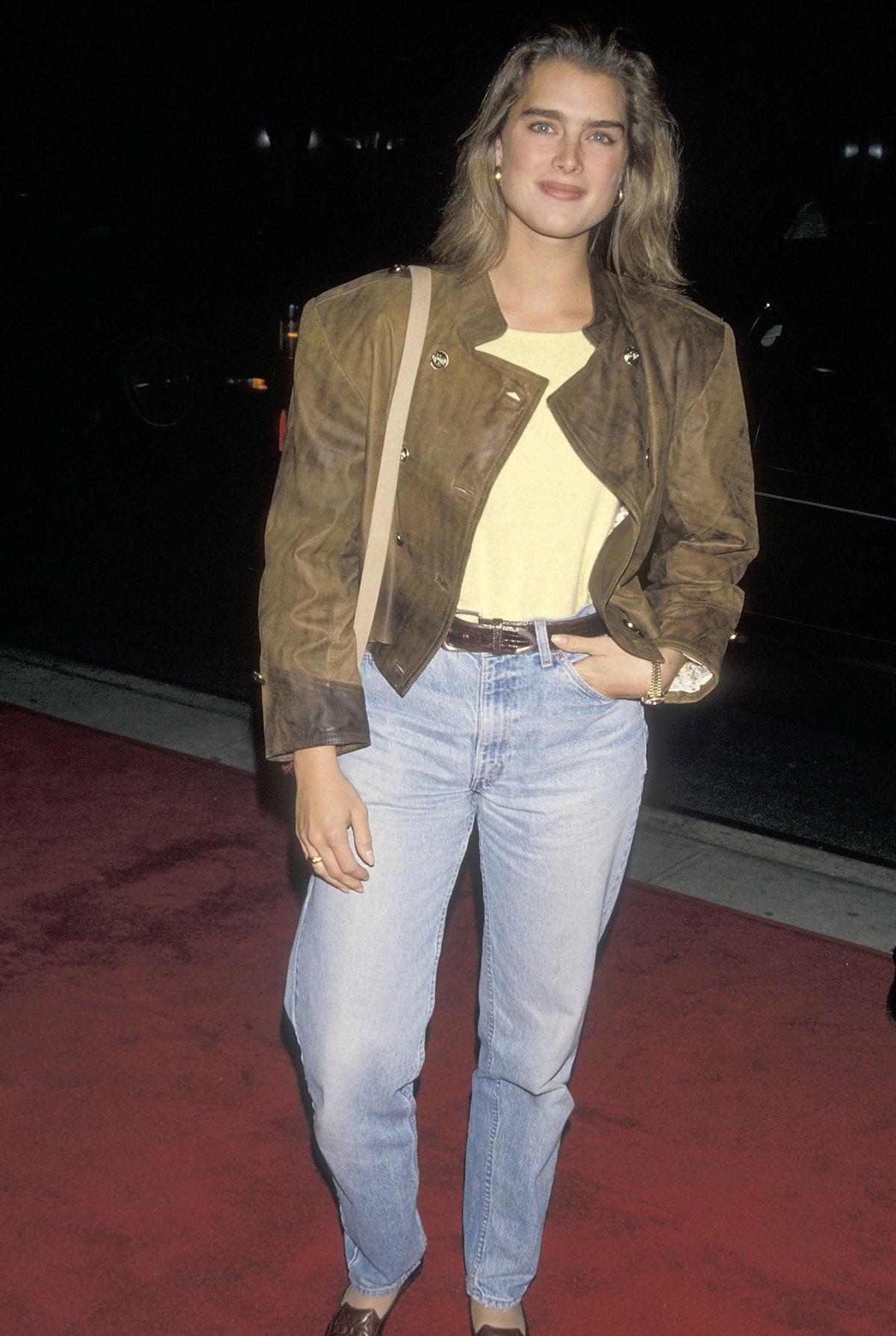 Brooke Shields wearing jeans in the 90s.