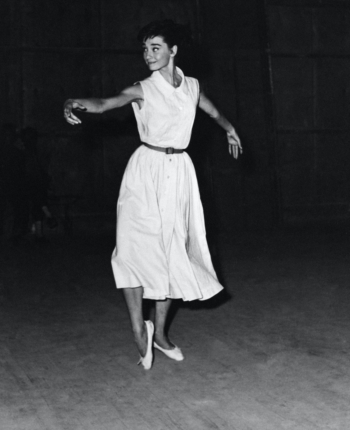 Audrey Hepburn in flats
