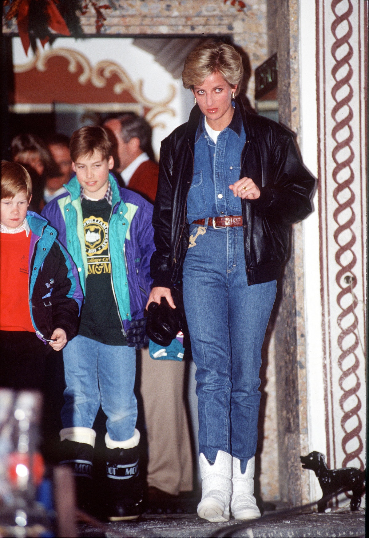 Diana Princess Of Wales wearing jeans