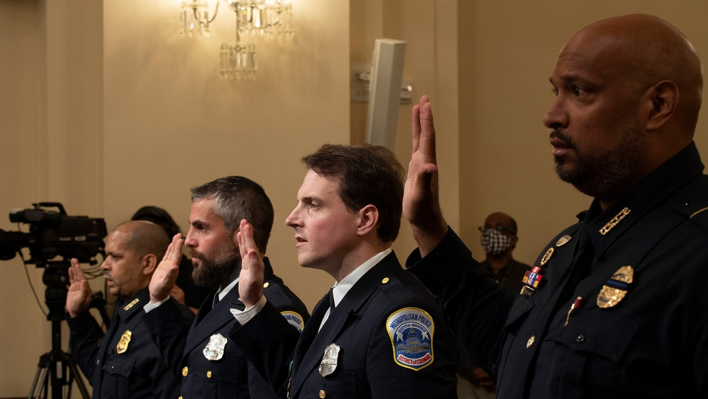 U.S. Capitol Police officer Aquilino Gonell, Washington Metropolitan Police Department officer Micha...
