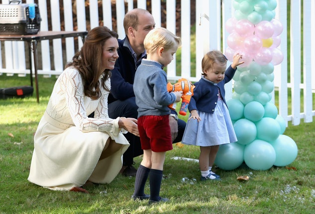 Prince George and Princess Charlotte like to party.