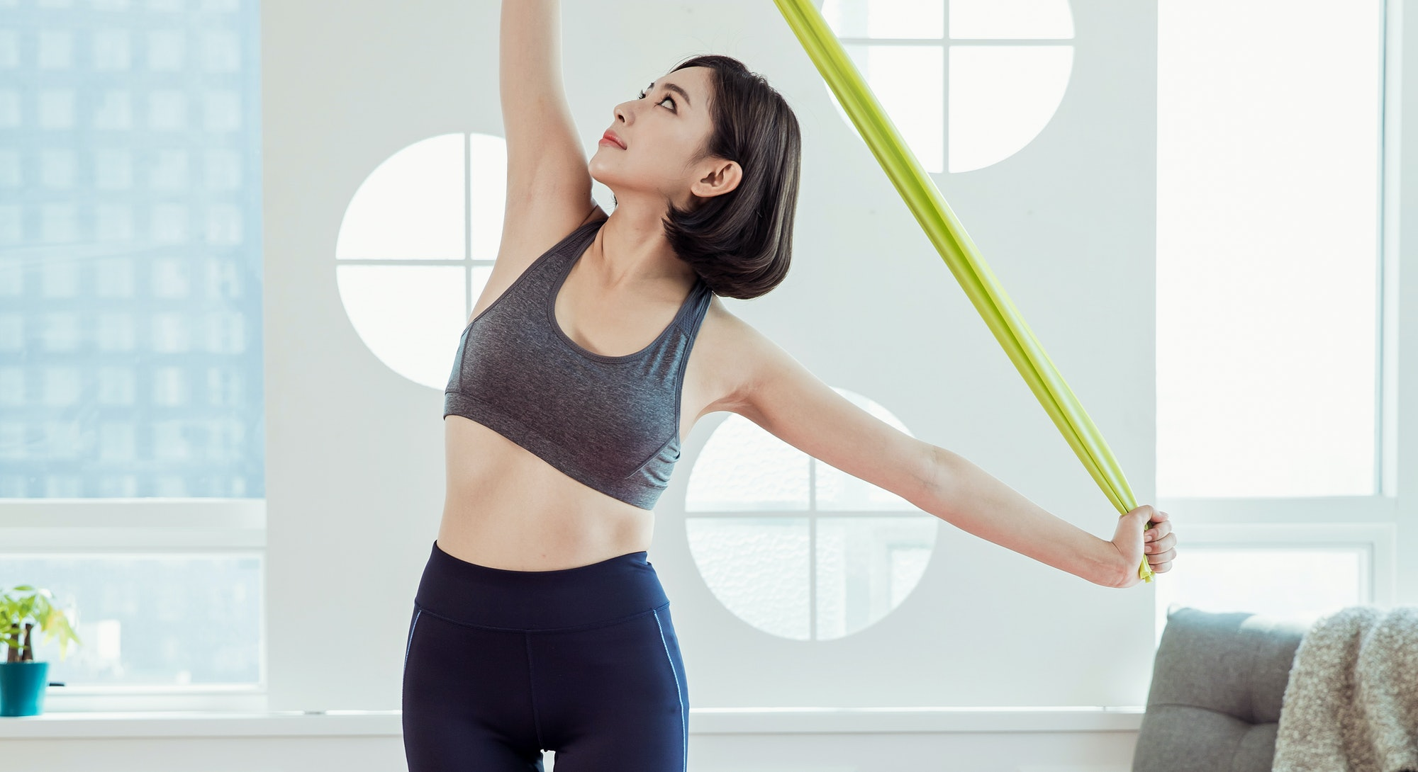Ab workouts to do with a resistance band.