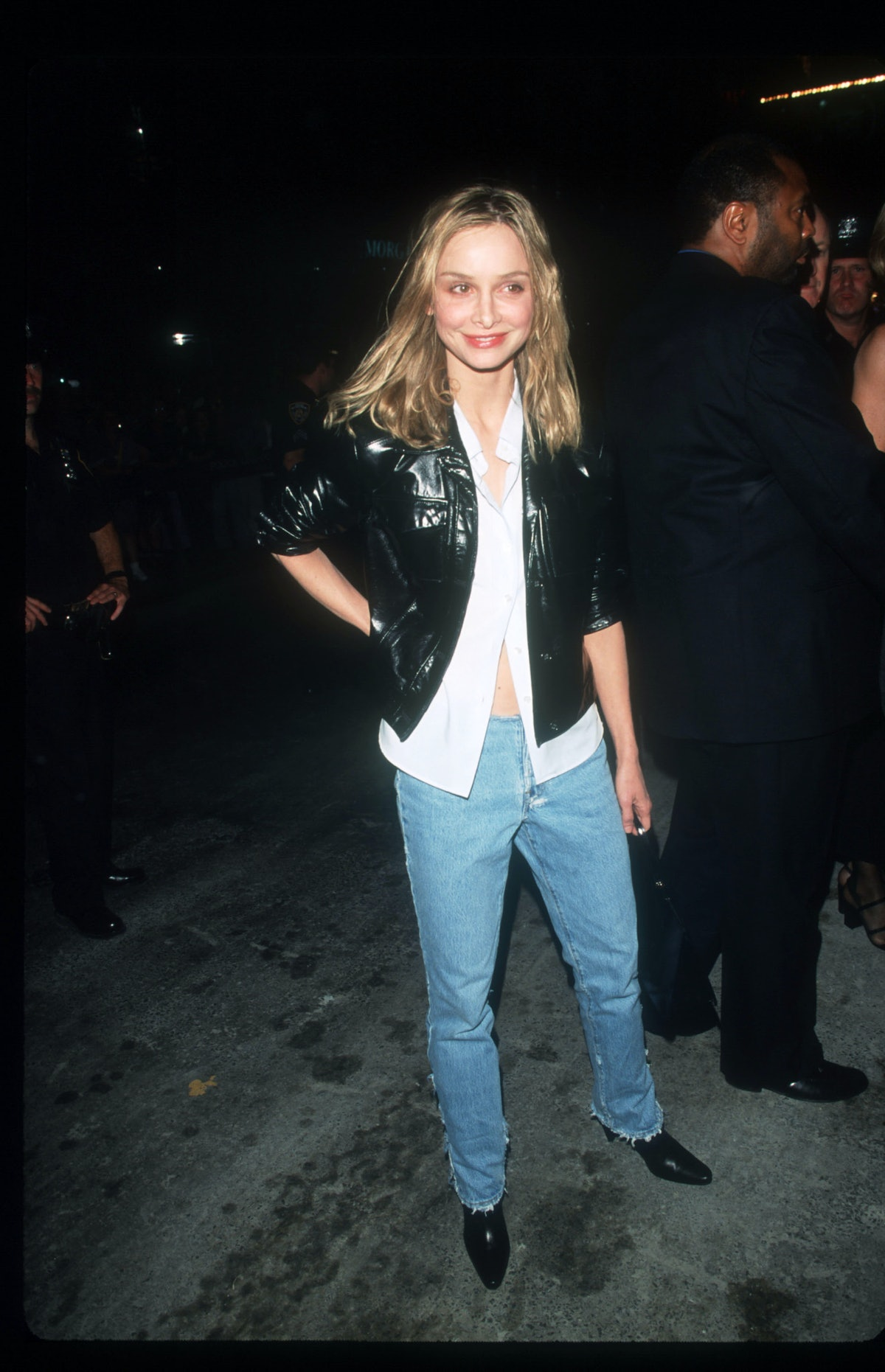 Actress Calista Flockhart in jeans