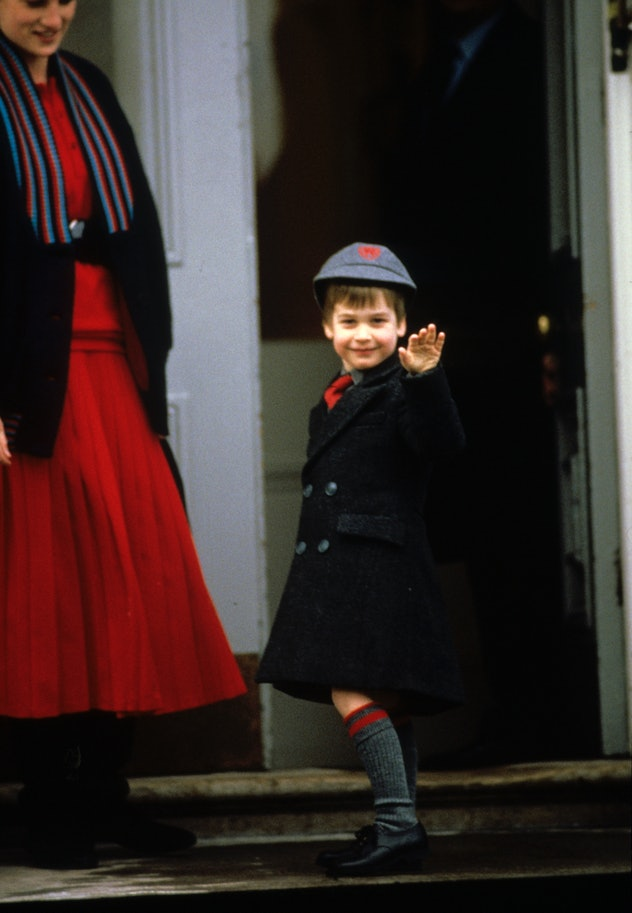 Prince William on his way to Wetherby School.