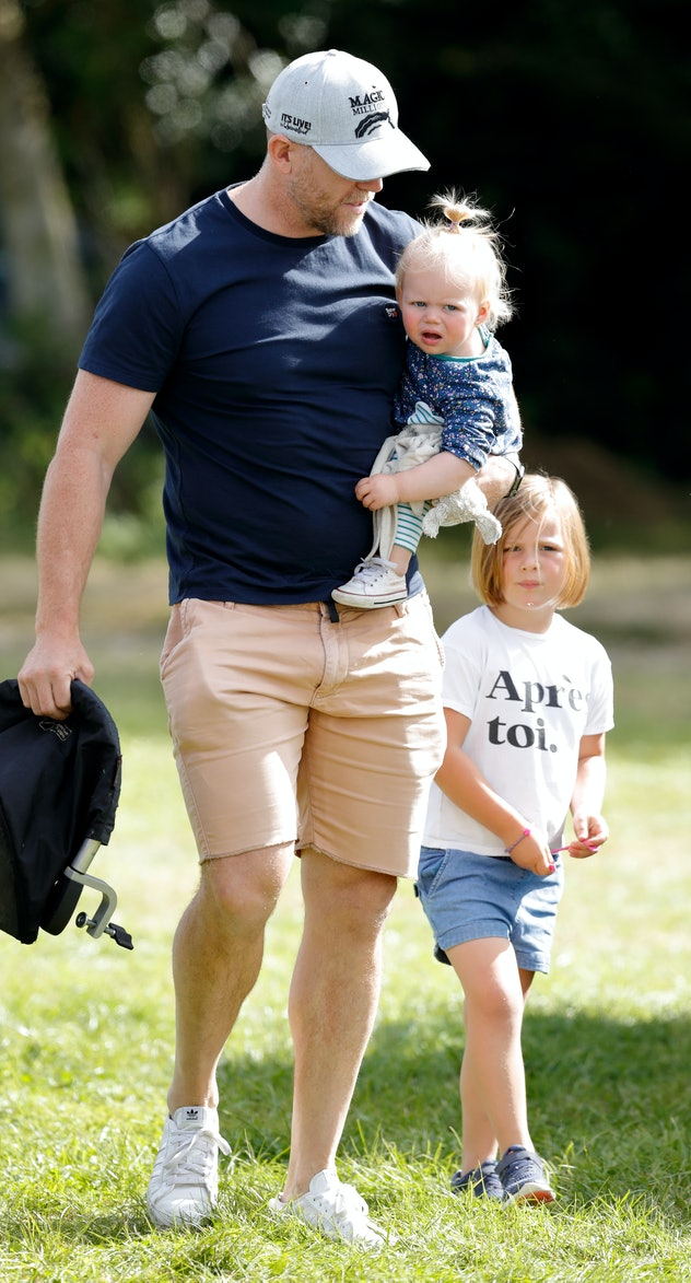 Mike Tindall with daughters Mia and Lena.