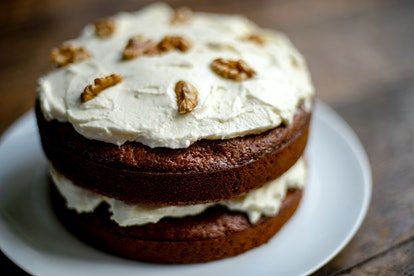 This version of carrot cake topped with cream cheese frosting is an easy dessert to bake for beginne...