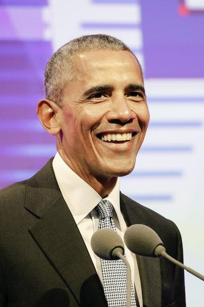 Celebrity Leo and Former US president Barack Obama attends media event.
