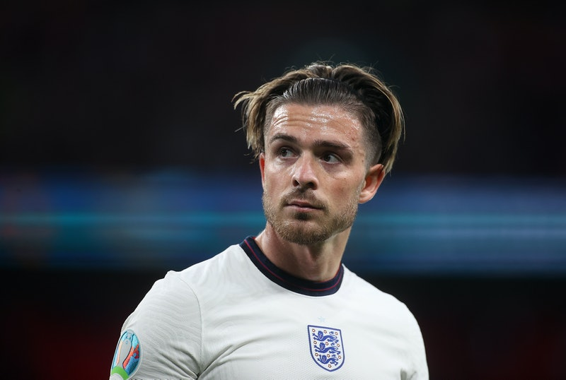 LONDON, ENGLAND - JUNE 22: Jack Grealish of England looks on during the UEFA Euro 2020 Championship Group D match between Czech Republic and England at Wembley Stadium on June 22, 2021 in London, England. (Photo by Carl Recine - Pool/Getty Images)