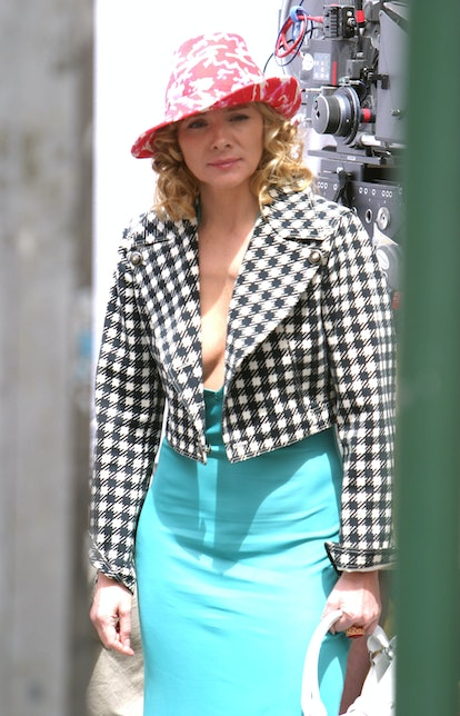 """Kim Cattrall during Kim Cattrall on Location For """"Sex and the City"""" on May 20, 2003 at Manahattan in..."""