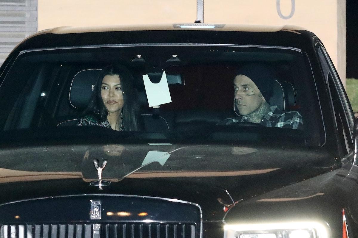 Kourtney Kardashian and Travis Barker sparked engagement rumors on a recent Disneyland trip.