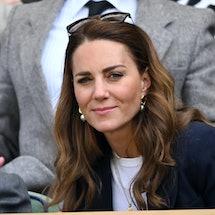 LONDON, ENGLAND - JULY 02: Catherine, Duchess of Cambridge attends the Wimbledon Tennis Championship...